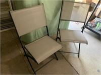 2 folding indoor/outdoor chairs