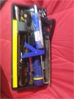 Medium sized tool tray with assortment of tools.