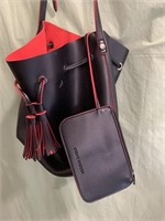 Steve Madden Red & black purse with attached