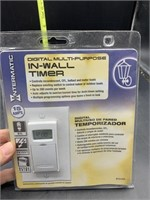 Digital multi purpose in wall timer - new