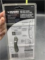 Husky sure grip folding lock back utility knife -