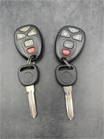 Uncut keys with key fobs