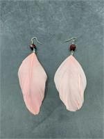 Women's feather earrings