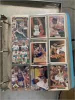 Baseball cards and album