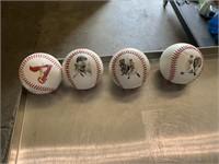 4 STL Cardinals baseballs
