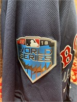 BOSTON RED SOX MULTI SIGNED JERSEY WORLD SERIES