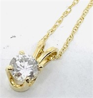 14KT YELLOW GOLD .40CTS SINGLE STONE DIAMOND