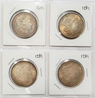 LOT OF FOUR 1921 SILVER MORGAN DOLLARS (2)