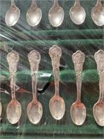FRANKLIN MINT STATE FLOWER STERLING SILVER SPOONS