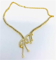 18KT YELLOW GOLD 7.14CTS DIAMOND NECKLACE 41.10 GR