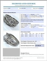 PLATINUM 2.07CTS DIAMOND RING SET FEATURES .72CTS