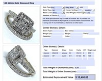 14KT WHITE GOLD 1.50CTS DIAMOND RING SET
