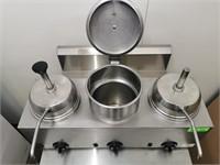Server 3 Well Heated Fudge/Syrup Warmer W/ Pumps