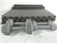 Dumbbells & Foam Tiles