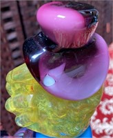 N - MURANO GLASS CLOWN ON BALL LARGE
