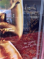 50 YRS OF JAMES BOND 16X24 SIGNED POSTER W/CERT
