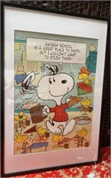VINTAGE BANNED SNOOPY/PEANUTS BEER&PIZZA POSTER