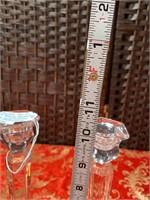 N - VINTAGE PAIR OF 2 WATERFORD CANDLESTICKS