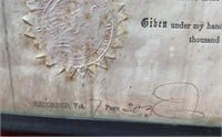 ANTIQUE AUTHENTIC LAND DEED - 1856 - SEE PICS