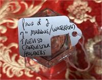N - PAIR OF WATERFORD CRYSTAL CANDLESTICKS