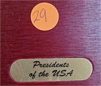 BOX SET OF US PRESIDENTS PROOF .999 SILVER SET(29)