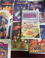 11 - HUGE LOT OF DISNEY VHS MOVIES - SEE PICS
