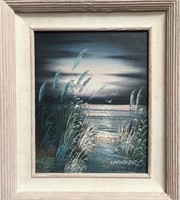 11 - PAIR OF MATCHING FRAMED SIGNED WALL ART