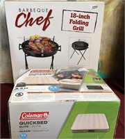 330 - BBQ CHEF FOLDING GRILL & COLEMAN Q QUICKBED