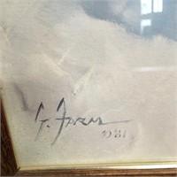 335 - SIGNED & FRAMED PORTRAIT OF A MAN ART