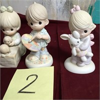 11 - LOT OF 3 PRECIOUS MOMENTS FIGURINES (2)