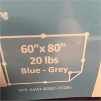 340 - QUILITY WEIGHTED BLANKET 60 X 80 BLUE/GREY