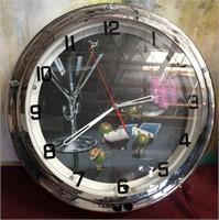 11 - MICHAEL GODARD NEON CLOCK - AS IS