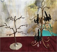 11 - LOT OF 2 JEWELRY TREES