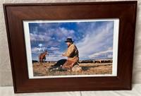 11 - FRAMED COWBOY ON THE RANGE