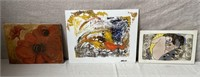 11 - LOT OF CANVAS ART & MORE