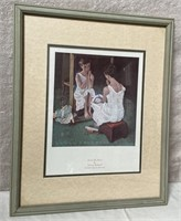 11 - FRAMED GIRL AT THE MIRROR BY NORMAN ROCKWELL
