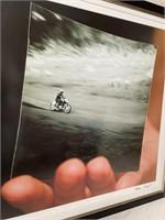 11 - ADAM SIEGEL FRAMED MOTORCYCLE WALL ART