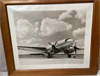 11 - FRAMED ART OF AN AIRPLANE