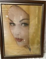 11 - FRAMED WALL ART OF WOMAN