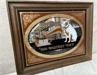 11 - FRAMED MIRROR VICTOR HIS MASTER'S VOICE ART