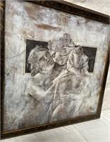 11 - FRAMED MAN & WOMAN ART