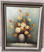 11 - FRAMED ART OF VASE & FLOWERS