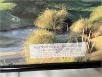 11 - FRAMED GOLF FIELD WALL ART