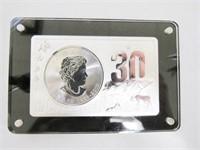 2018 Maple Leaf 5 CAD .9999 Silver 2-oz.Bar & 1-oz