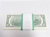2003 Quantity 100 Series $2 A Notes in Sequential