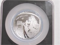 2019 Comm. Silver Apollo 11 Anniversary, 5 oz.