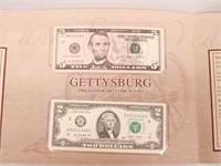 2013 Gettysburg 150th Anniversary Currency Set
