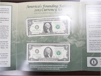 2013 America's Founding Fathers 2013 Currency Set