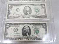 1976 Set of 4 Series 1976 Federal Reserve.