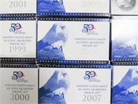1999-2009 Washington Sets 50 States & Territories